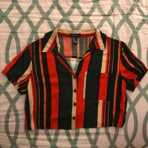 Forever 21 Striped Crop Top (Like-New)